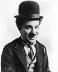Charlie Chaplin (pictured dressed as the penniless tramp, with bowler hat, moustache and ragged suit) is known for his silent comedies featuring slapstick, pathos and social commentary